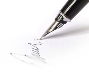 Signing a Blank Document